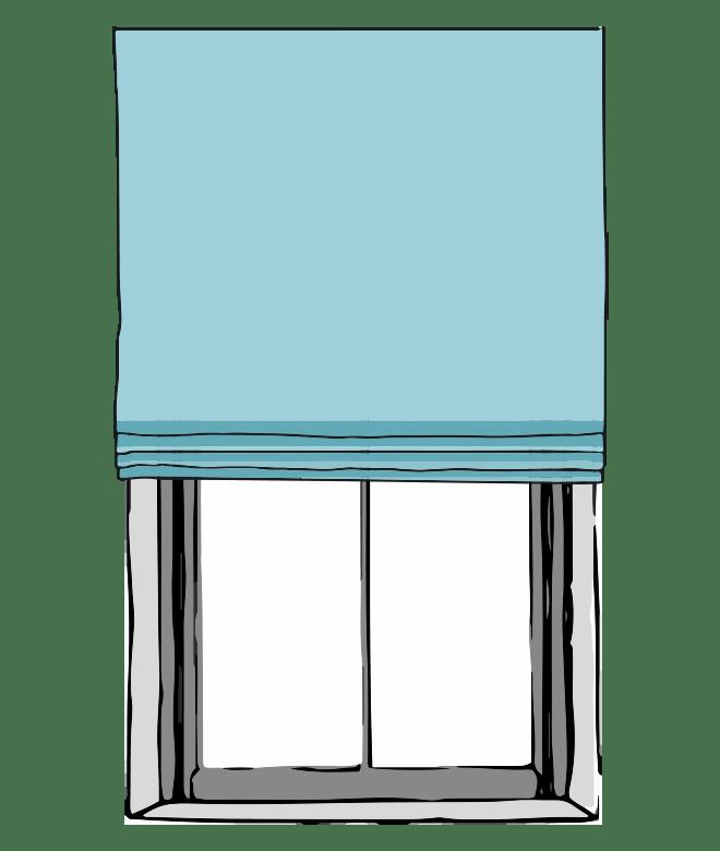 Flat Fold Roman Shades With Back Slats