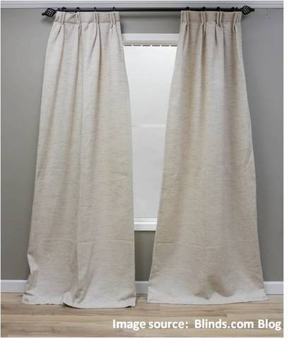 Dear Spiffy Spools: My new custom curtains are flaring at the bottom instead of hanging in neat folds. What should I do?