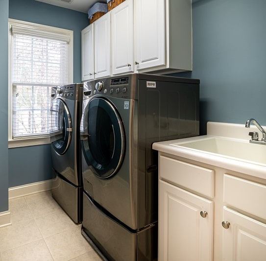 Farmhouse Laundry Room Curtain Ideas